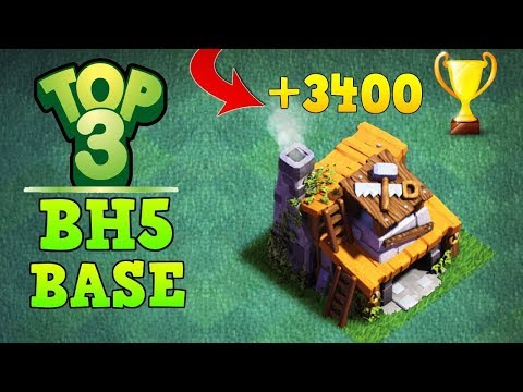 TOP 3 BEST Builder Hall 5 Base   CoC BH5 Base Designs   Clash of Clans