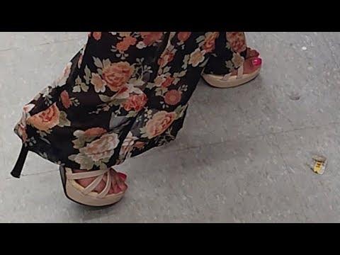 Sexy Beige Platform Sandals & Pink Toes   Punjabi Goddess