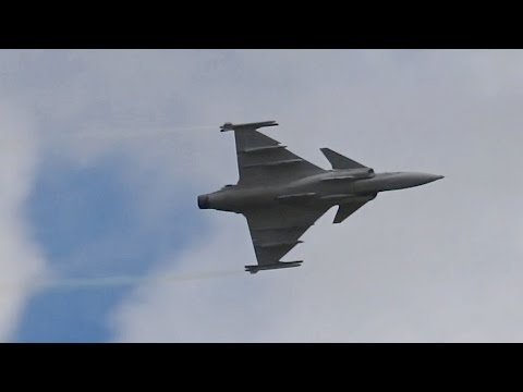 Saab JAS-39C Gripen from Swedish Air Force flying Display at RIAT 2012 AirShow