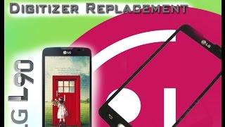 LG L90 (D405) Glass Touch Only Replacement / Wymiana szybki digitizera | Selekt