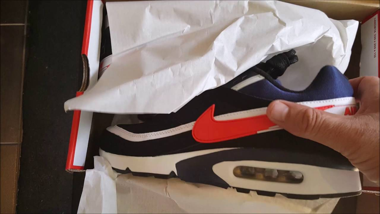 Unboxing unpacking Nike Air Max BW Premium USA Olympics 2016