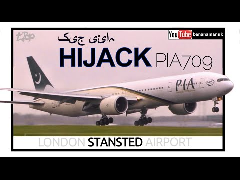 Emergency Landing PIA709 Pakistan International PIA Boeing 777 Stansted Airport suspected Hijack