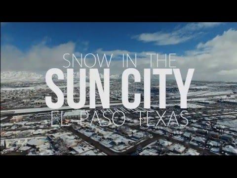 Snow in the Sun City El Paso Texas