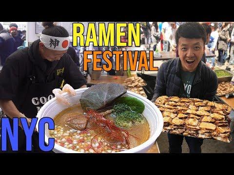 SEVEN Bowls of RAMEN Noodles in ONE Day Ramen Festival in New York