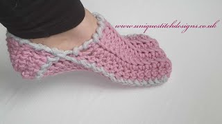 CROCHET SLIPPERS THE EASIEST WAY /FAST/EASY
