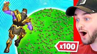 THANOS vs 100 PLAYERS!