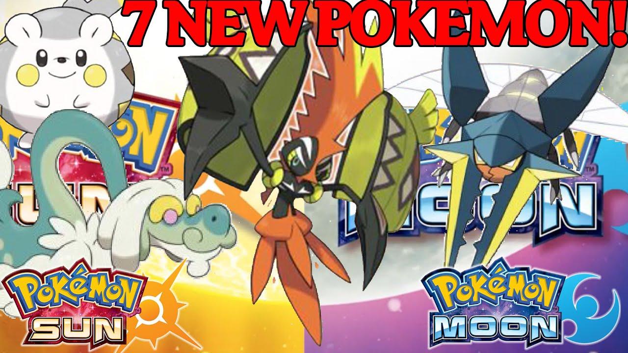 7 New Pokemon Sun And Moon Island Guardian Tapu Koko And More Youtube