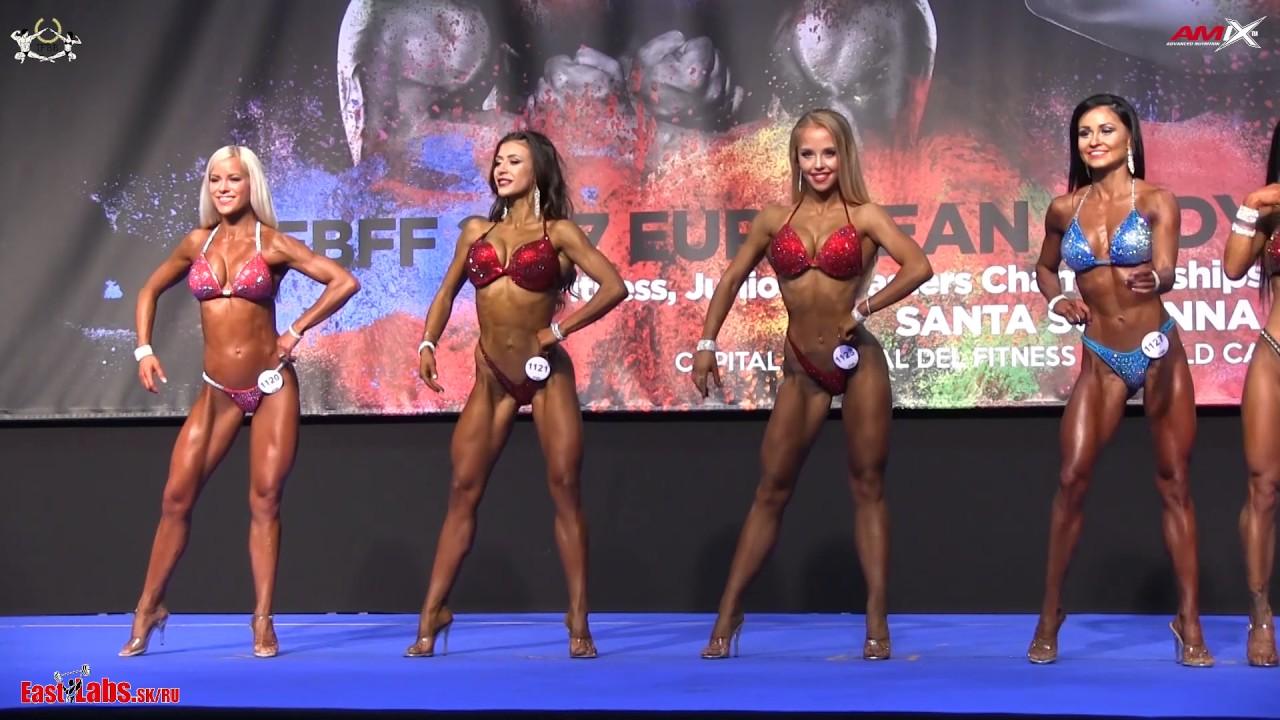 0808fee74c01e 2017 IFBB European Championships BIKINI 158cm FINAL - YouTube