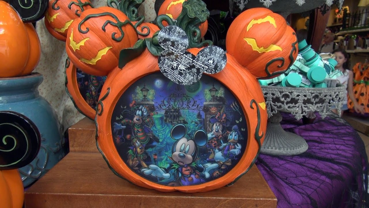 halloween 2014 merchandise is displayed at magic kingdom emporium