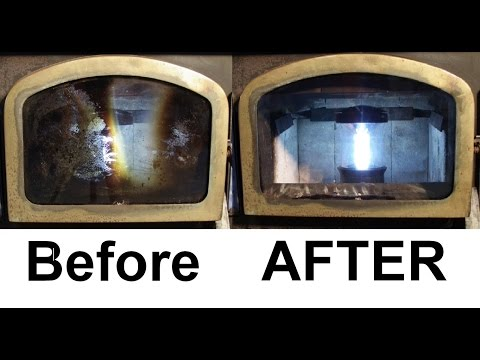 How To: Use Steel Wool to Clean Fireplace Window Glass - How To Clean Soot Off Fireplace Glass