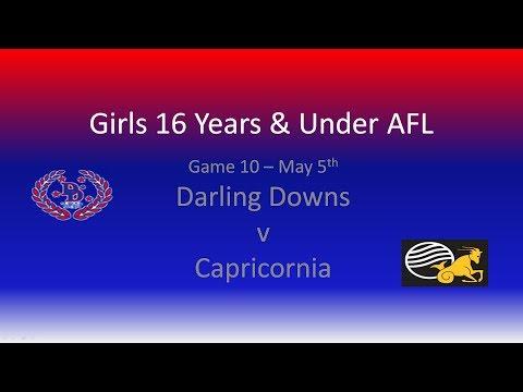 Darling Downs v Capricornia U16 Girls AFL