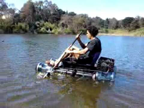 My Homemade Plastic Boat Water Craft Raft Youtube