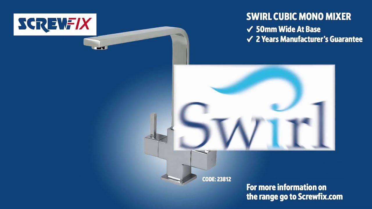 Swirl Cubic Sink Mounted Mono Mixer Kitchen Tap Chrome Screwfix Youtube
