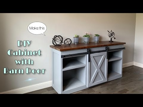 DIY Cabinet with Barn Door