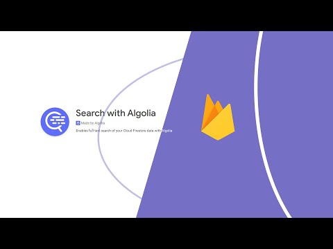Thumbnail Algolia Cloud Firestore Extension with Ionic 5 App