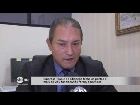 Empresa Tronic fecha as portas em Chapecó e demite cerca de 250 funcionários