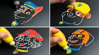 Paw Patrol Pancake Art - Chase, Marshall, Rubble, Zuma