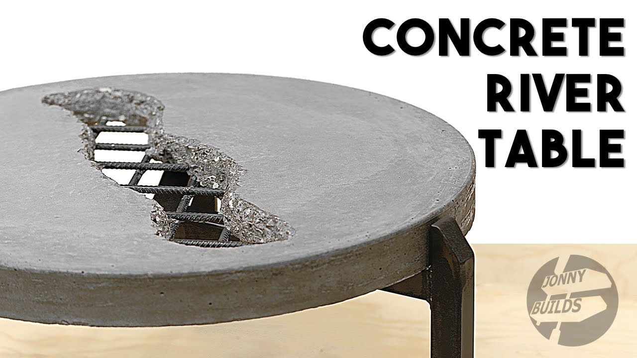 Diy Concrete River Table How To Build A Concrete Coffee Table Youtube