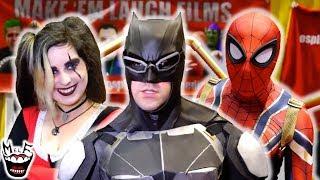 BATMAN vs COMIC CON! Spider-Man, Harley Quinn, Joker | Real Life Superhero Movie - MELF