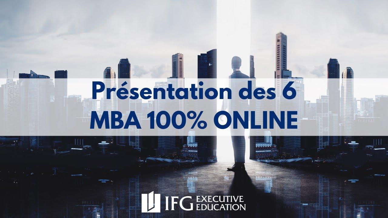 Download Présentation des 6 MBA 100% en ligne de l'IFG Executive Education