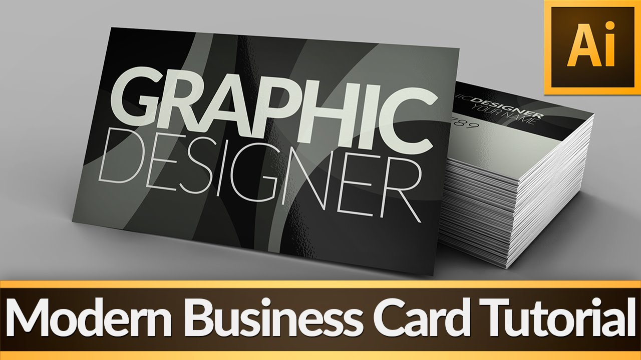 Modern Business Card — Illustrator Tutorial - YouTube