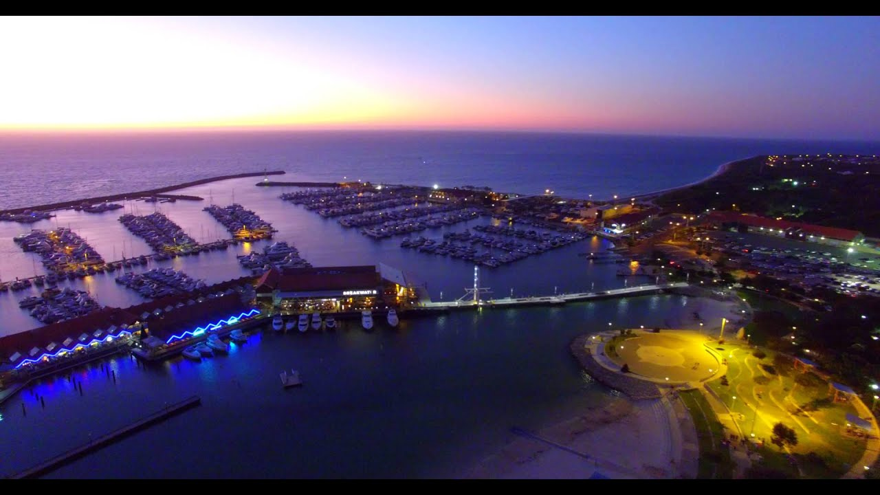 hillarys boat harbour by drone - perth  western australia