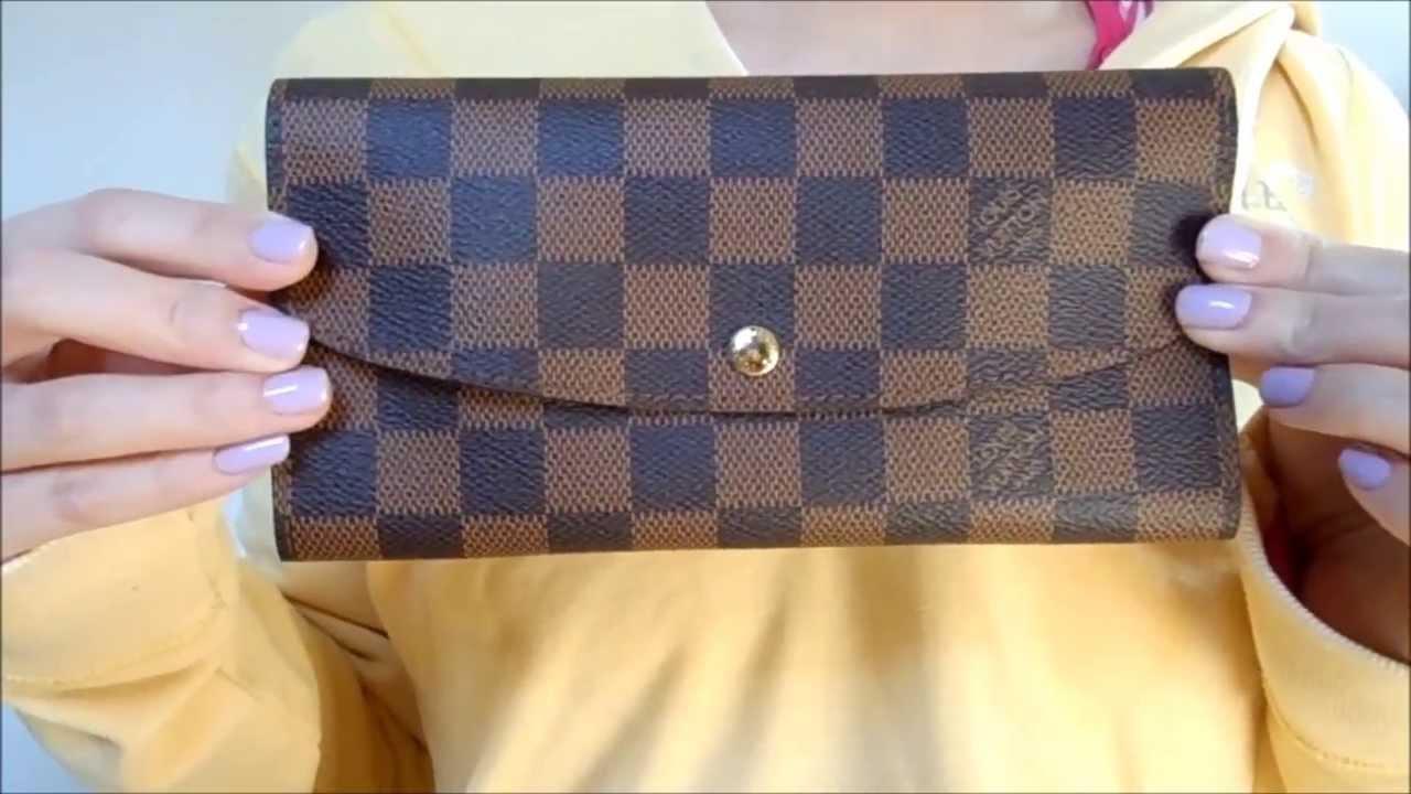 louis vuitton emilie wallet damier ebene quick overview