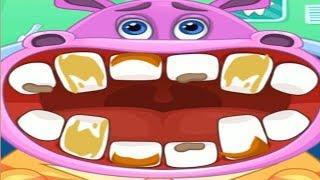 Детский Врач Стоматолог Лечим Зубки Бегемоту Игра Для Детей