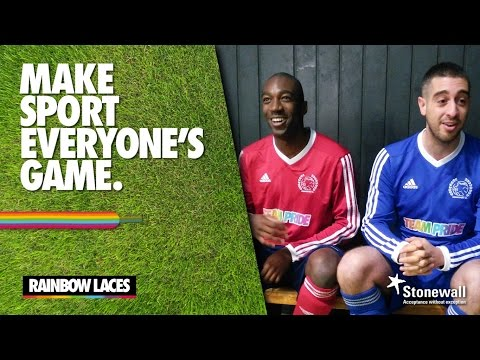 Stonewall | Rainbow Laces - Make sport everyone's game