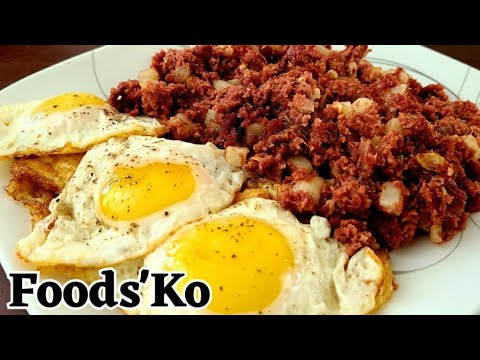 CANNED CORNED BEEF RECIPE | Filipino Breakfast - YouTube