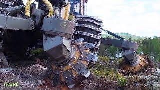 logging machines  Interesting video  Лесозаготовительные машины