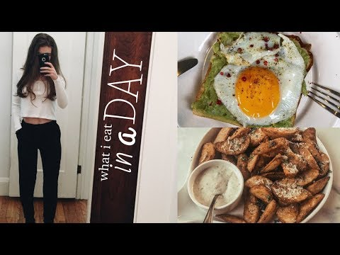 WHAT I EAT IN A DAY (easy, healthy + vegetarian) thumbnail