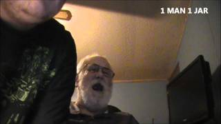 Angry Grandpa watches 2 guys 1 horse and 1 Man 1 Jar