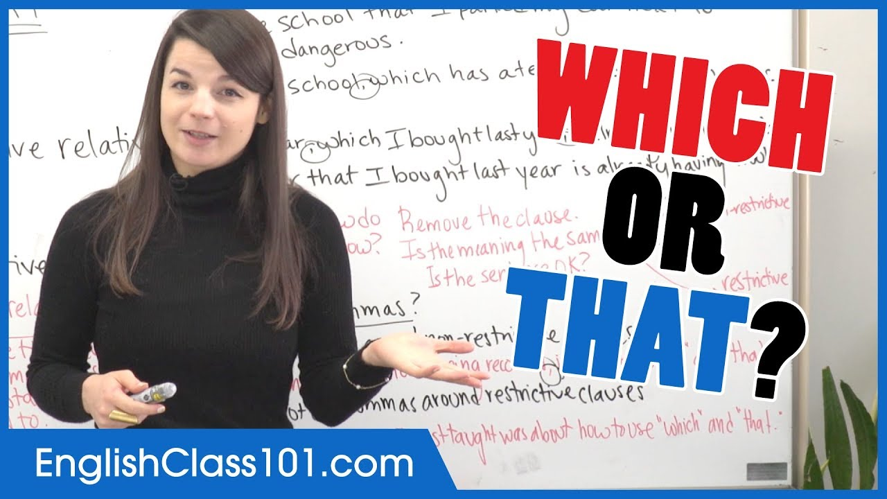 Which or That? Relative Clauses for Beginners - Basic English Grammar
