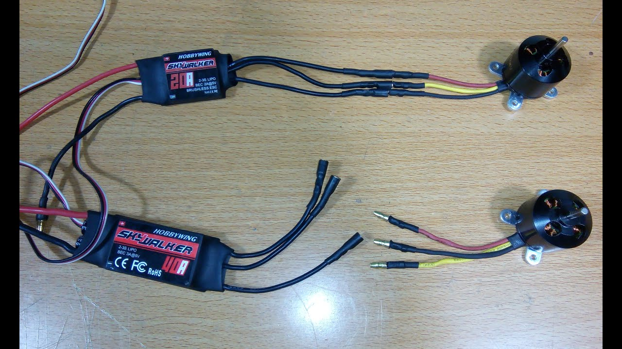 Connect Esc To Brushless Motor On Rc Brushless Motor And Esc Wiring