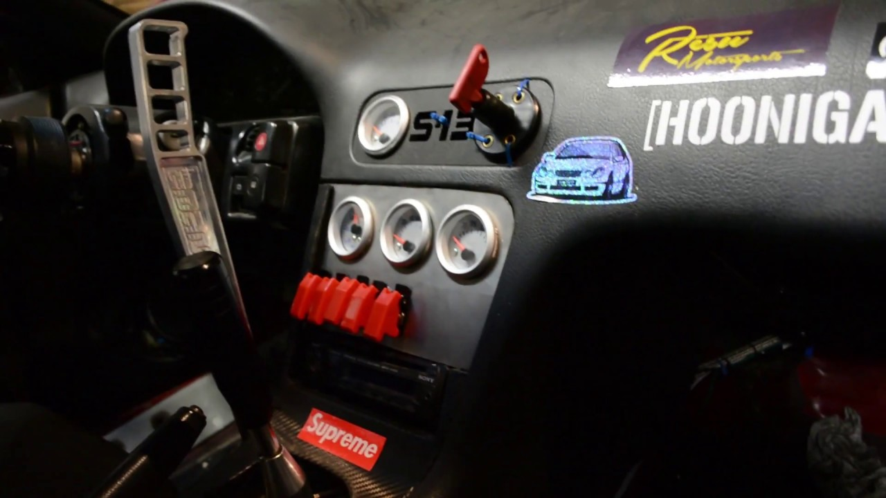 switch panel gauge cluster 240sx drift build episode 31 youtube rh youtube com s13 switch panel install
