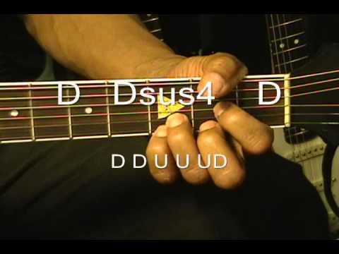 Guitar Strumming Pattern Lesson Michael Jackson Style C - D -Dsus4 EricBlackmonMusic