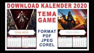 Gambar cover download kalender 2020 pdf cdr jpeg
