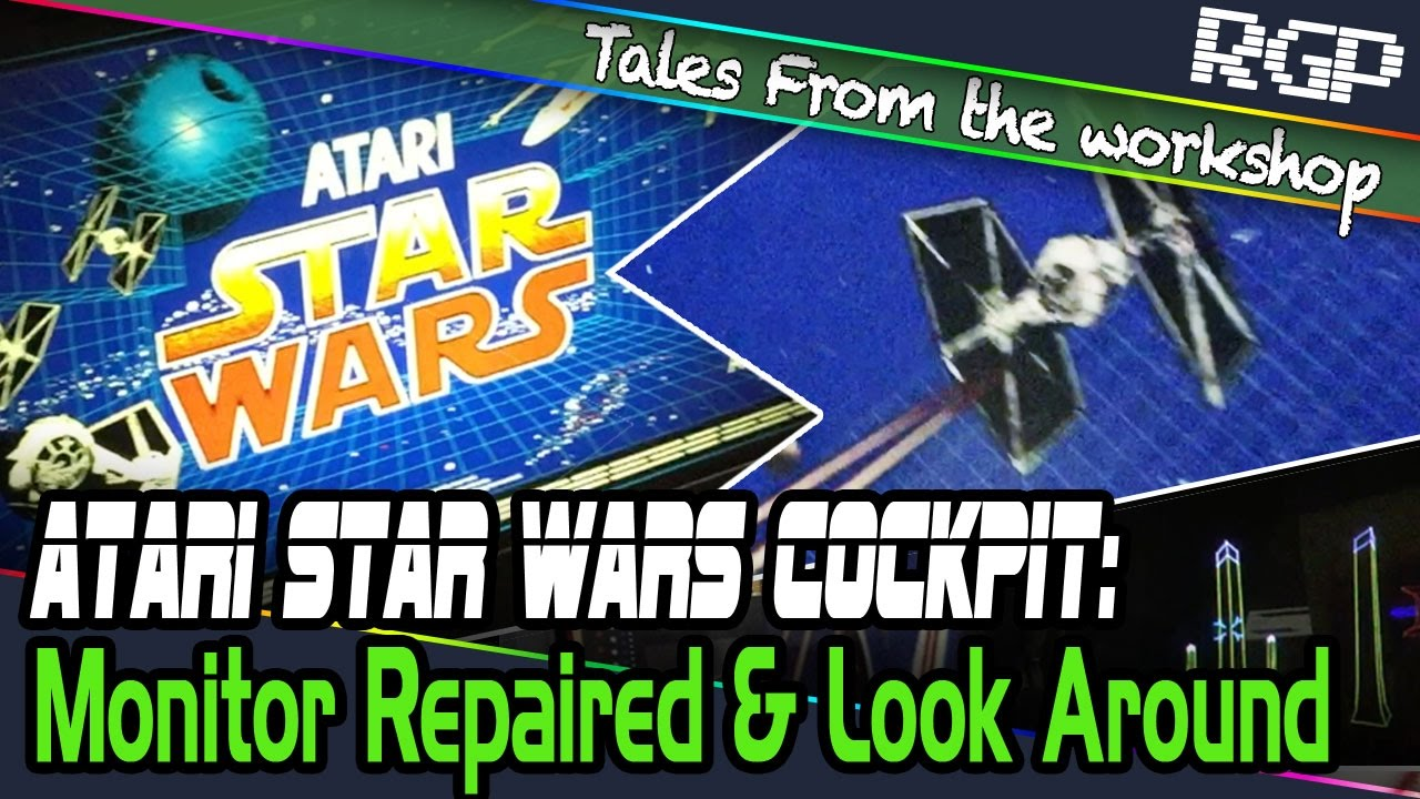 Atari Star Wars Arcade Cockpit (1983) Customer Repair - HV Fix and TuneUp