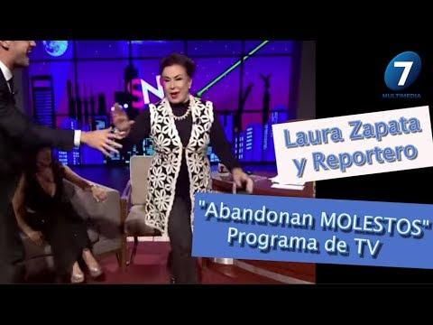"""Laura Zapata y Reportero """"Abandonan MOLESTOS"""" PROGRAMA DE TV / Angélica Palacios,  Multimedia 7"""