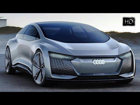 2017 Audi Aicon Autonomous Luxury Concept Design & Driving Footage HD