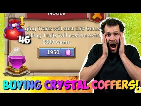 Rolling 2000 Gems PER TRAIT Buying Crystal Coffer