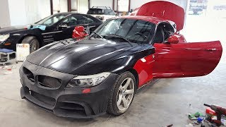 Fixing All The Body Work On The Triple Salvage Z4