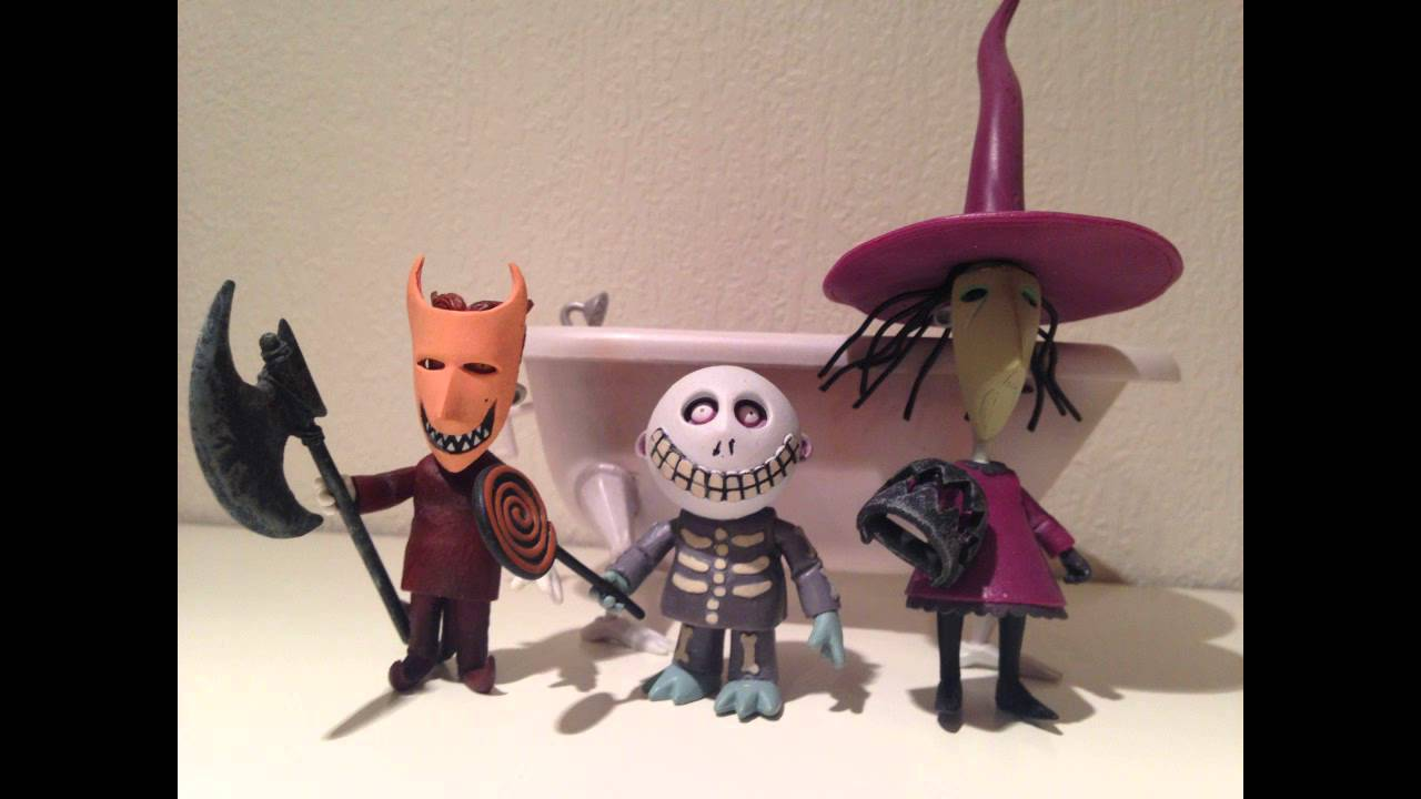 NECA Nightmare Before Christmas - Lock Shock & Barrel figure ...