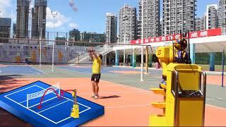 Intelligent volleyball training machine (ty@tingasports.com)