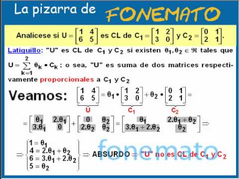 linear combination of matrices pdf