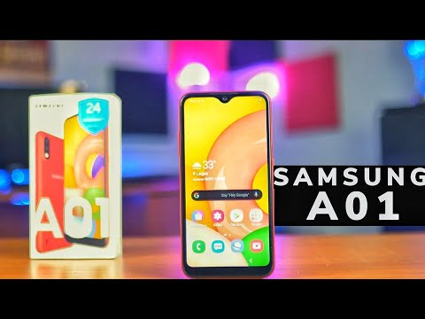 SAMSUNG A01 - Unboxing & Initial Impressions in English