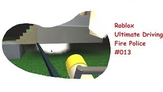 Roblox: Ultimate Driving | Fire Police #013 | Extinguish fires on the new map! | [Huski/English]