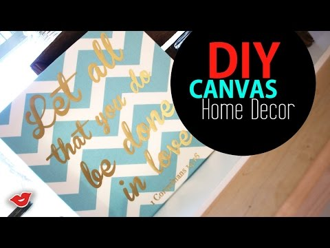 DIY Canvas Decor! | Tay from Millennial Moms