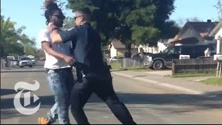 Video Shows Sacramento Police Officer Beating Pedestrian | The New York Times